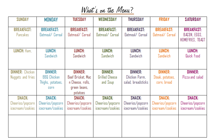 Weekly Meal Plan: Sticking to a $50-$60 Budget (Free Printables ...